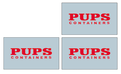 Stacked PUPS Containers