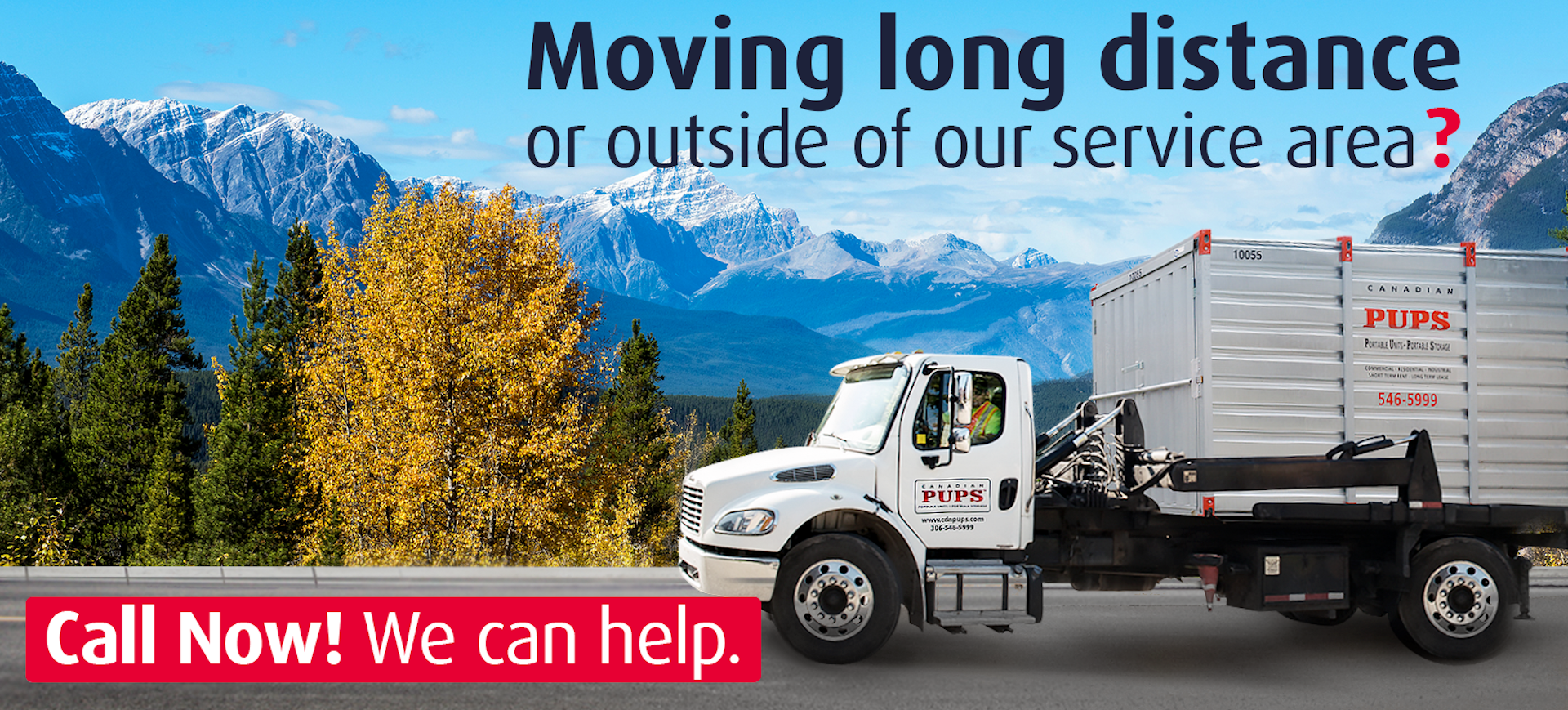 Moving long distance or outside of our service area?